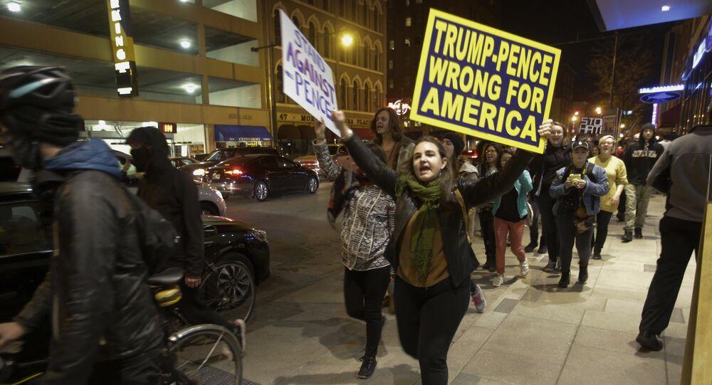 Dimostranti anti-Trump (foto d'archivio)