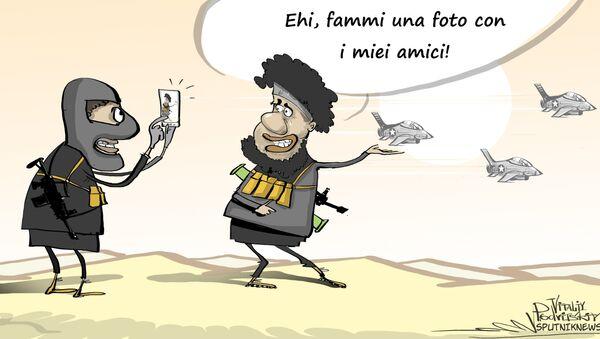 Daesh e caccia della Coalizione - Sputnik Italia
