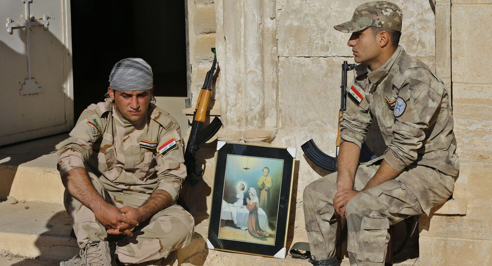 Soldati delle Unità di protezione della pianura di Ninive
