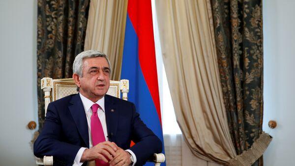 Il presidente armeno Serzh Sargsyan - Sputnik Italia