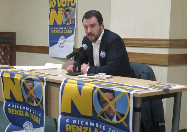 Matteo Salvini a Mosca il 18 novembre 2016