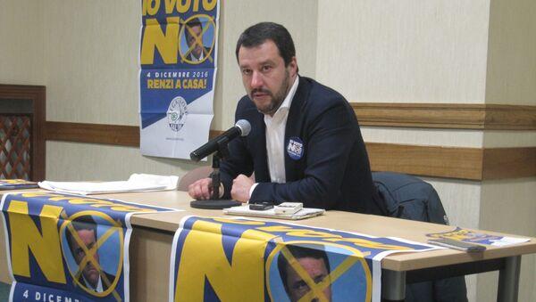Matteo Salvini a Mosca il 18 novembre 2016 - Sputnik Italia
