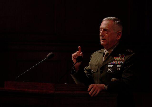 Ex generale americano James Mattis (foto d'archivio)