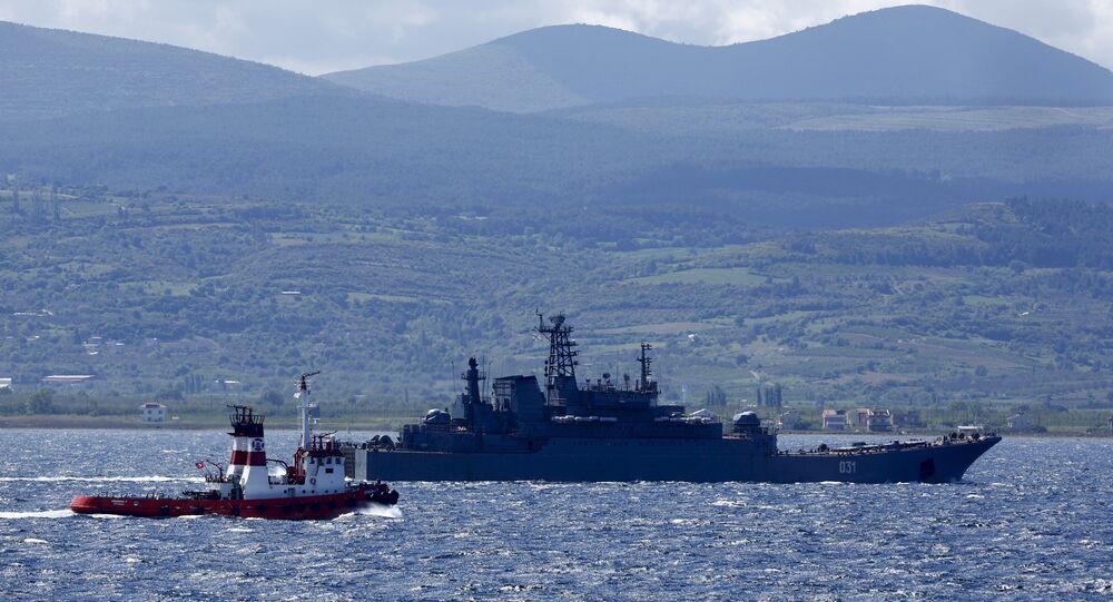 Nave da guerra russe nel Mediterraneo