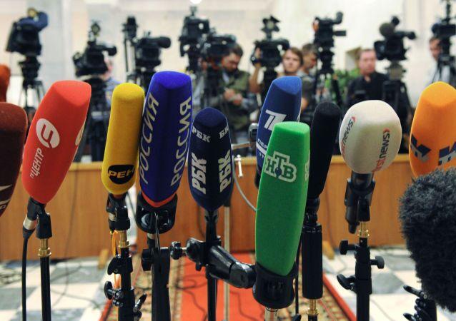 Microfoni dei media russi