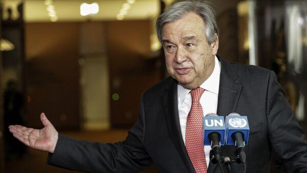 Antonio Guterres speaking at the UN headquarters in New York. (File) - Sputnik Italia