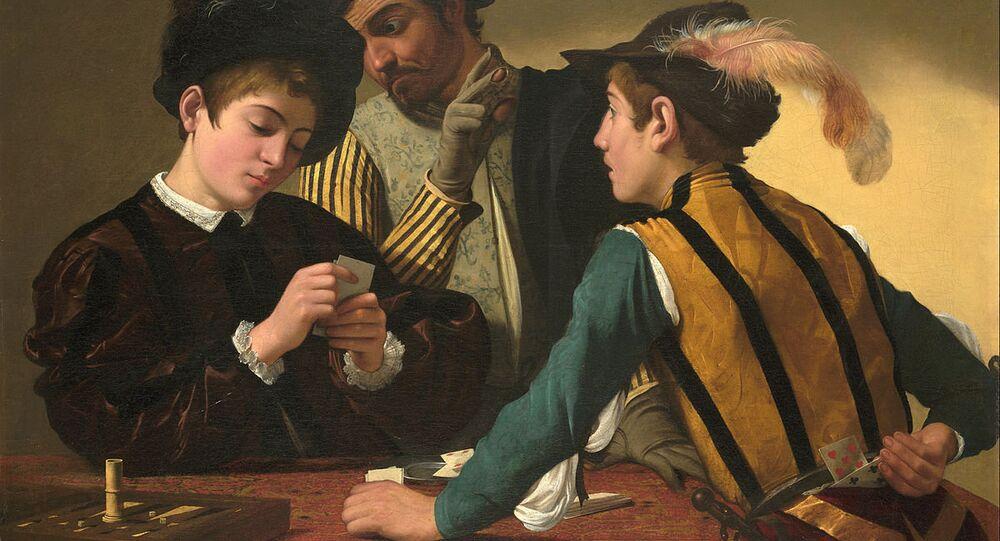 Caravaggio (Michelangelo Merisi) - The Cardsharps - Google Art Project