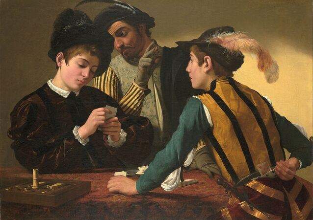 Caravaggio (Michelangelo Merisi) - The Cardsharps - Google Art Project
