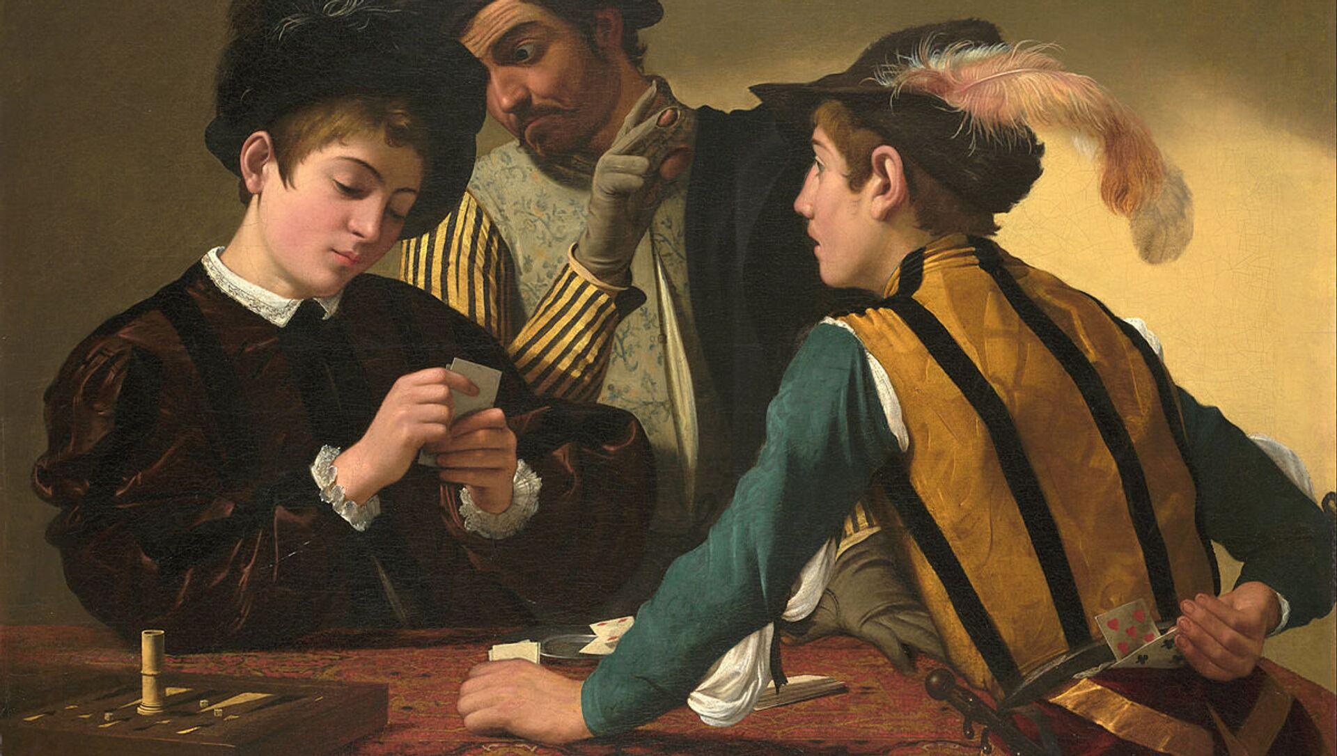 Caravaggio (Michelangelo Merisi) - The Cardsharps - Google Art Project - Sputnik Italia, 1920, 08.04.2021