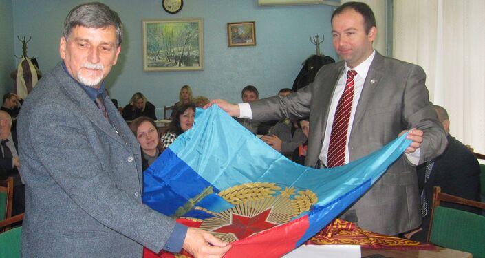 Palmarino Zoccatelli e Oleg Akimof a Lugansk