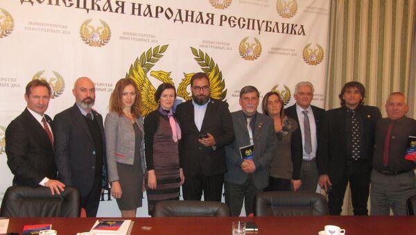 La delegazione degli imprenditori veneti a Donetsk - Sputnik Italia
