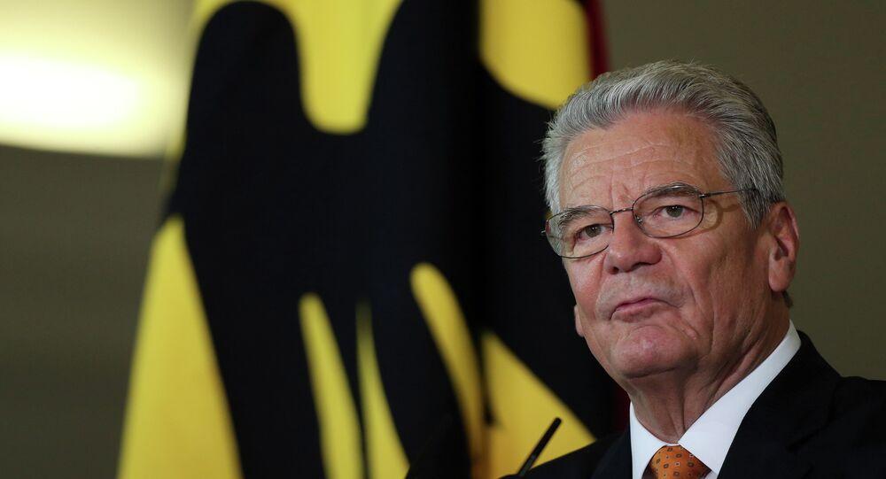 Il presidente della Germania Joachim Gauck