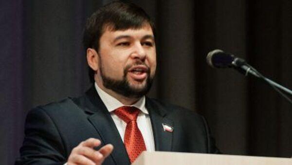 Заместитель председателя Народного Совета Донецкой народной республики Денис Пушилин - Sputnik Italia