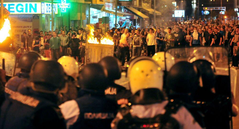 Proteste antigovernative in Macedonia
