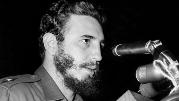 Cuban Prime Secretary of the Cuban Communist party and President of the State Council Fidel Castro addresses delegates of the General Assembly of the United Nations, 26 September 1960 in New York - Sputnik Italia