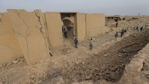 Il centro di Nimrud, a 30 km da Mosul, distrutto dall'ISIS - Sputnik Italia