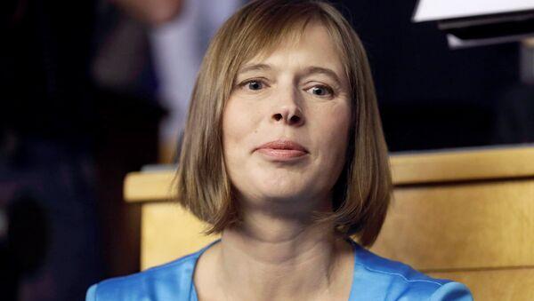 Presidente dell'Estonia Kersti Kaljulaid - Sputnik Italia