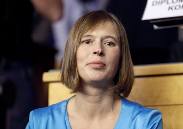 Presidente dell'Estonia Kersti Kaljulaid