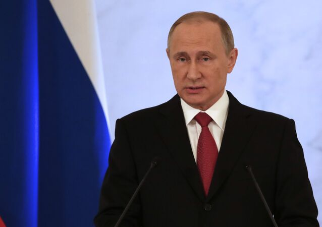 Vladimir Putin parla all'Assemblea Federale