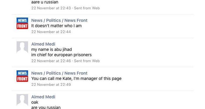 La conversazione fra il sedicente jihaidista e News Front