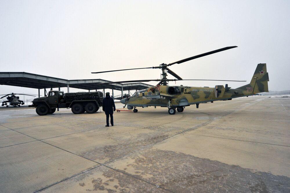 Elicotteri d'attacco Ka-52 Alligator in dotazione dell'esercito russo.