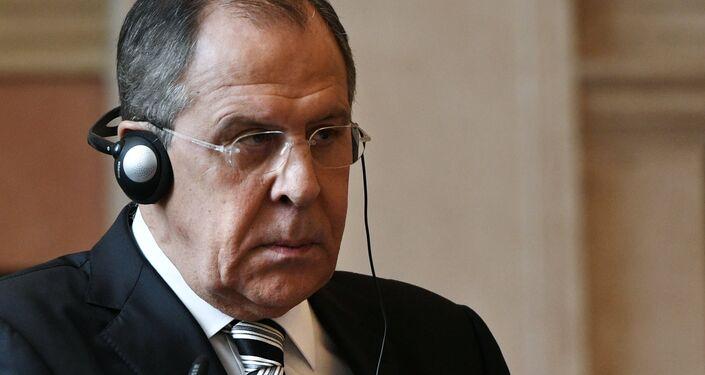 Il ministro degli Esteri russo Sergei Lavrov a Roma.
