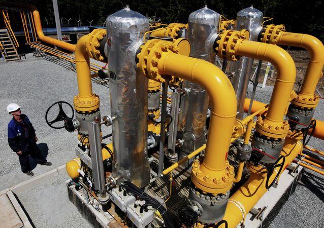 Alla stazione di distribuzione gas naturale