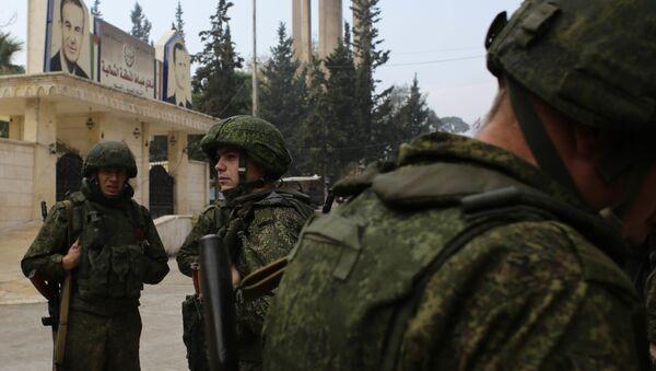 Soldati russi in Aleppo in Siria - Sputnik Italia