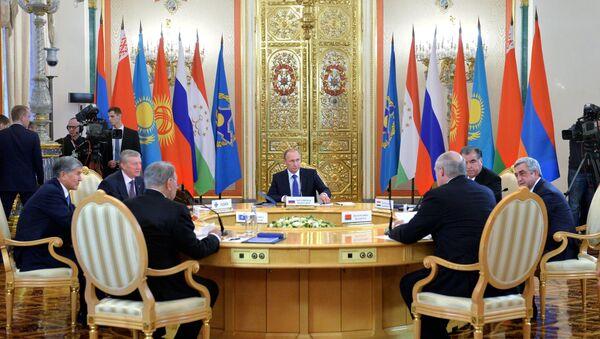 Una riunione dei capi di Stato dell'Unione Eurasiatica e del Trattato di Sicurezza Collettiva (CSTO) a Mosca - Sputnik Italia