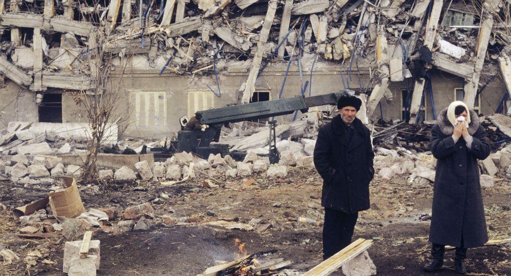 Le conseguenze del terremoto in Armenia