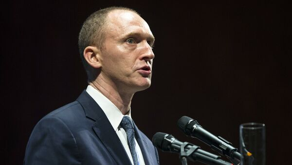Carter Page, an adviser to U.S. Republican presidential candidate Donald Trump, speaks at the graduation ceremony for the New Economic School in Moscow, Russia. (File) - Sputnik Italia