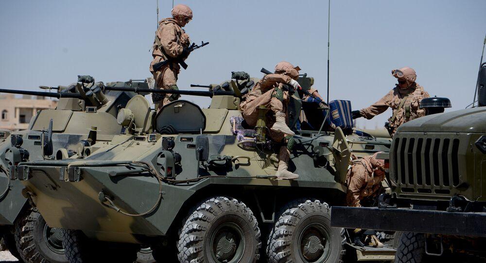 Soldati russi a Palmira (foto d'archivio)