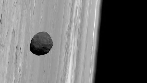 Fobos sullo sfondo di Marte - Sputnik Italia