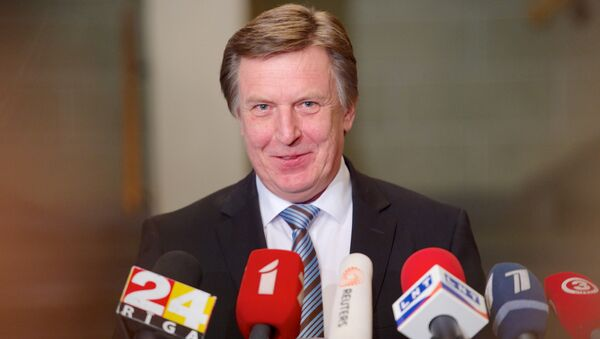 Maris Kucinskis of the Greens and Farmers Union (ZZS) speaks during a press conference after Latvian President nominated him as Prime Minister and asked to form a new government in Riga - Sputnik Italia