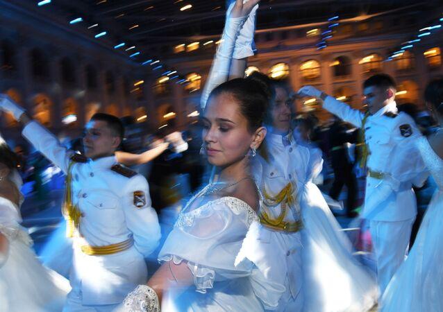 Partecipanti al Ballo internazionale del Cremlino a Mosca