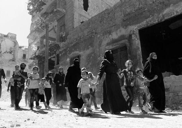 I civilli ad Aleppo