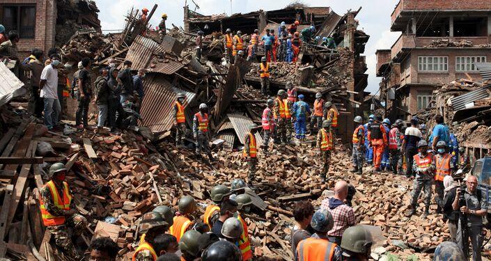 Consequenze di terremoto a Nepal
