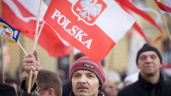 Pro democracy rally in Poland, December 2015 - Sputnik Italia