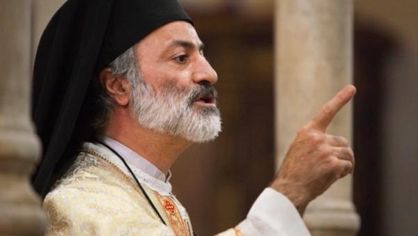 Padre Mtanios Haddad, siriano, archimandrita melchita, rettore della basilica di Santa Maria in Cosmedin a Roma. - Sputnik Italia