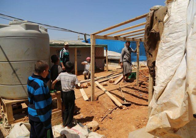 Campo di profughi siriani