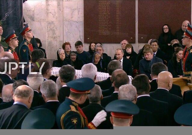 La cerimonia funebre dell`ambasciatore Karlov