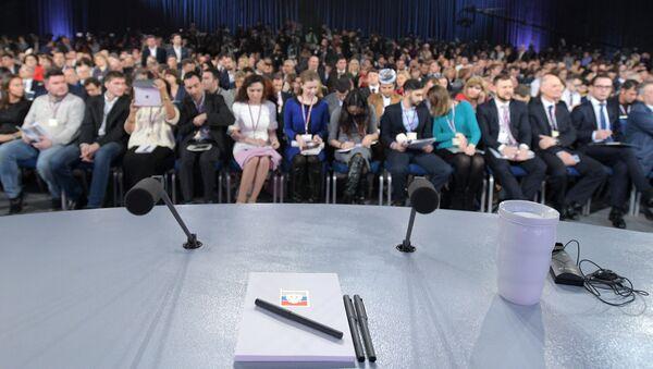 I giornalisti alla conferenza stampa di Vladimir Putin - Sputnik Italia