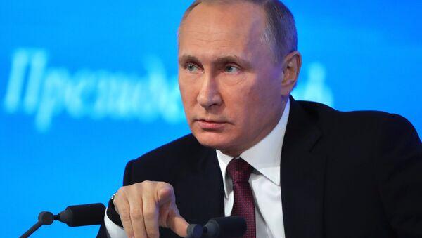Alla conferenza stampa di Vladimir Putin - Sputnik Italia