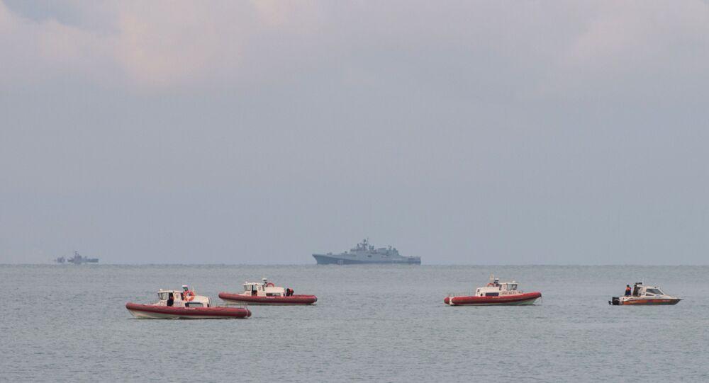 Navi dei soccorritori nel Mar Nero