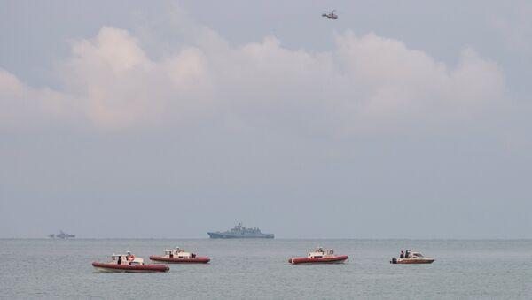 A search operation near the Black Sea coast where a Tu-154 plane of the Russian Ministry of Defense crashed near Sochi - Sputnik Italia