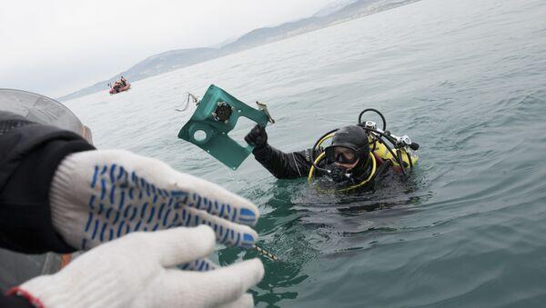 Soccorritori cercano frammenti dell'aereo Tu-154 schiantato a Sochi nel Mar Nero. - Sputnik Italia