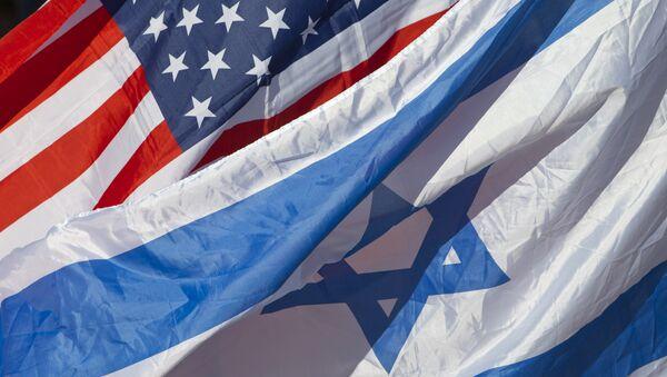 Bandiere americana e israeliana. - Sputnik Italia