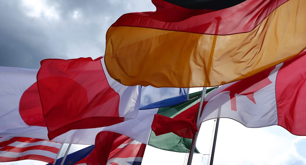 Bandiere dei Paesi membri del G7