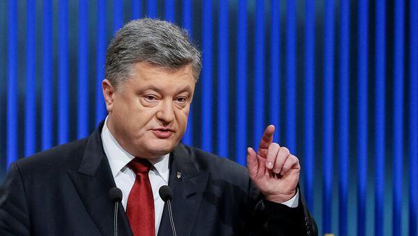 Il presidente ucraino Petro Poroshenko. - Sputnik Italia