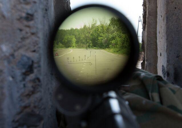 Mirino di un fucile da cecchino